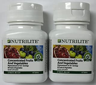 2 PACK Nutrilite Concentrated Fruits and Vegetables - Tablets - 60 Count 60 Tablets