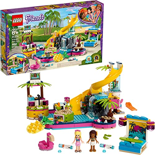 wholesale LEGO Friends Andrea's Pool Party popular 41374 Toy Pool Building Set with Andrea and Stephanie Mini Dolls for Pretend Play, online Includes Toy Juice Bar and Wave Machine (468 Pieces) online sale