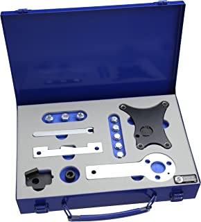 XianXiu Set di Strumenti Cinghia dentata Cinghia dentata Motore a camme di Regolazione Tool Set in Acciaio al Carbonio Resistente per VW T5/Touareg TDI/ /Deu con Cassetta degli Attrezzi