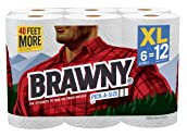 Brawny Paper Towels, Pick-A-Size, 6 XL Rolls, 6 = 12 Regular Rolls