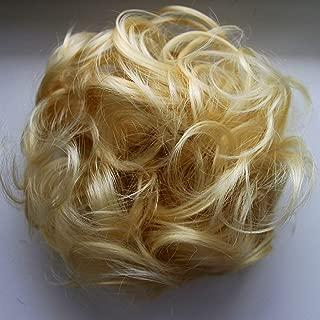 PRETTYSHOP Hairpiece Hair Rubber Scrunchie Scrunchy Updos VOLUMINOUS Curly Messy Bun Bleach blonde G11E_613B