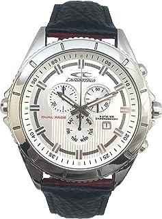 Chronotech Reloj Cronógrafo para Hombre de Cuarzo con Correa en Cuero CT7636L-02