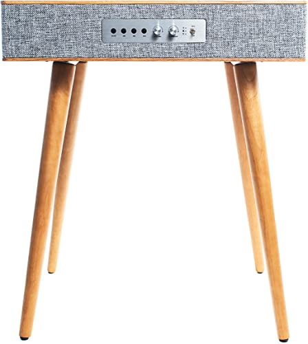 popular Sierra Modern Home Classic Speaker online Table with Built in Wireless wholesale Charging, Walnut outlet online sale