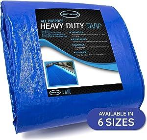 Durable, Heavy Duty & Waterproof 20' x 20' All Purpose 5 MIL Tarp by Dry Gear