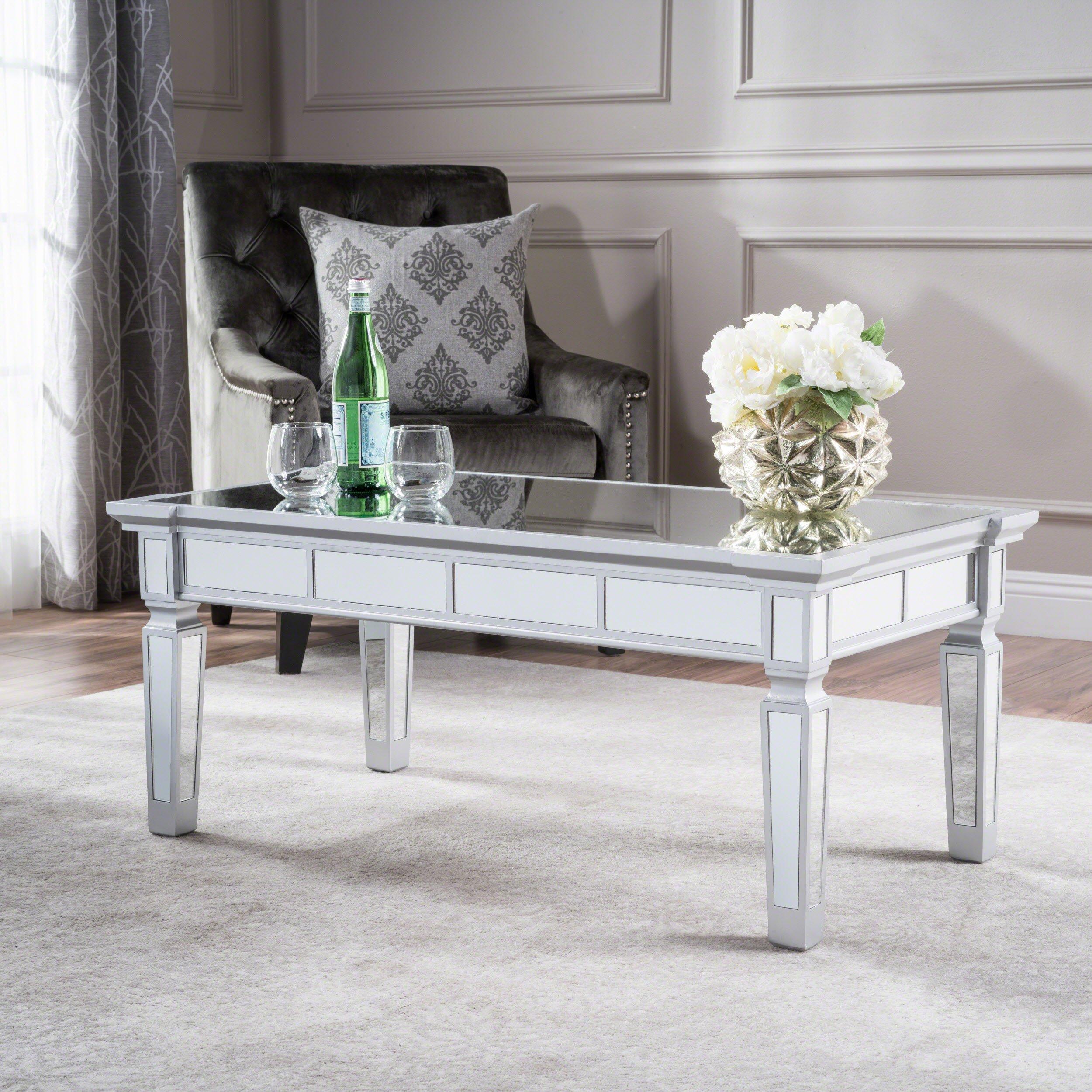 mirrored coffee table amazon com rh amazon com  glass mirror living room table