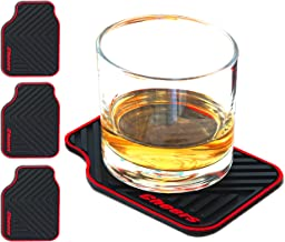 Janazala ARTORI Silicone Drink Coasters, Car Enthusiast Gifts for Men, Gifts Ideas for Car Lovers, Cars Themed Coasters for Him, Birthday Gift for Men Cave, Brother, Dad, Guys, Christmas, Set of 4
