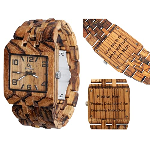 Personalized Engraving Available For Non Prime Orders- Wooden watch-Wood watch-Wood engraving