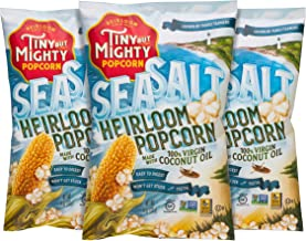 Tiny But Mighty Sea Salt Heirloom Popped Popcorn, Pack of 3