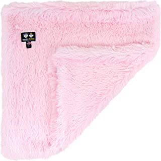 "product image for Bessie and Barnie Bubble Gum Luxury Shag Ultra Plush Faux Fur Pet, Dog, Cat, Puppy Super Soft Reversible Blanket (Multiple Sizes), XL - 56"" x 56"""