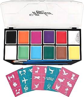 Maydear Kit de pintura facial para niños con 12 colores (X-