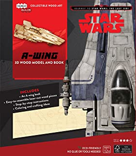 Insight Editions Incredibuilds Star Wars The Last Jedi BB8 Wood Model and Book