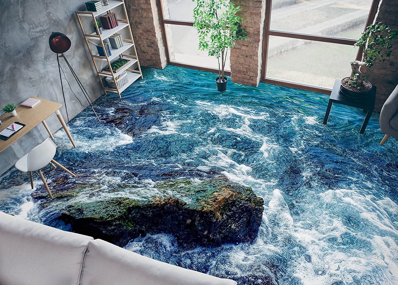 3D Waves 6143 Floor Wallpaper Murals Wall WALLPAP Decal Print AJ Sales results No. 1 Factory outlet