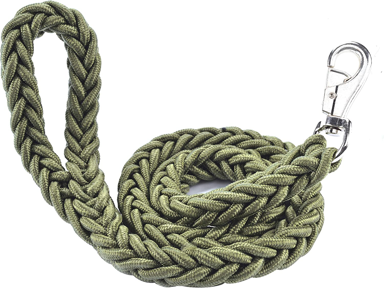 Cdycam Heavy Duty Braided Pet Dog Training Leash,Dog Walking Leads,4ft Thick Durable Dog Rope Leash for Small Medium Large Dogs (Large, Green)
