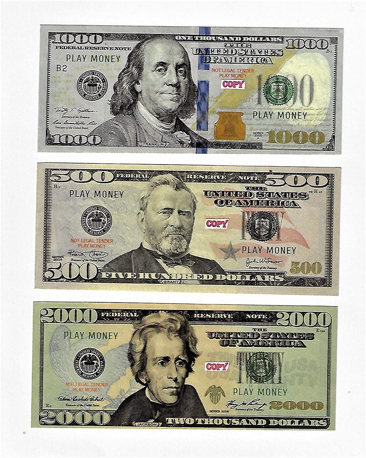 Play Money $500 Fort Worth New arrival Mall 1000 2000 bills best Prank Mo Movie Prop Novelty