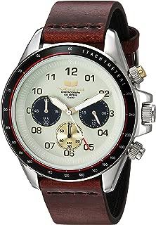Vestal ZR2 Leather Stainless Steel Japanese-Quartz Watch Strap, Brown, 20 (Model: ZR243L01.CVBK)