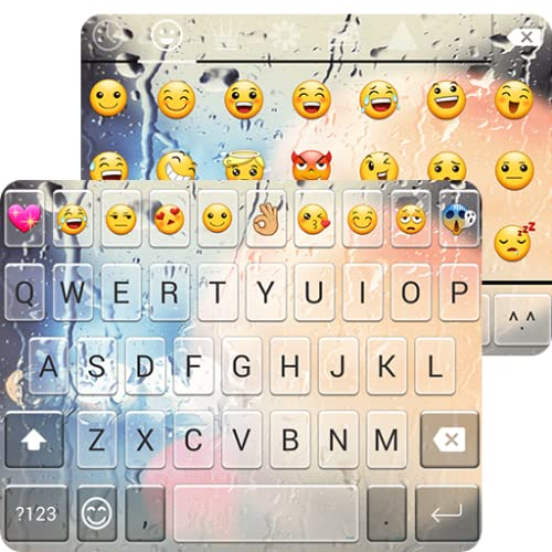 Free Glass Emoji Keyboard Theme
