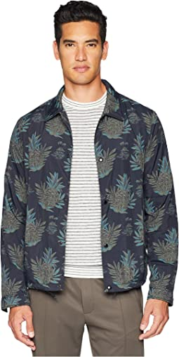 Tropical Print Coaches Jacket