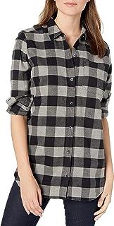 Amazon Brand - Goodthreads Women`s Heavyweight Flannel Oversized Boyfriend Shirt