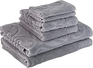 Panache Home Jacquard Collection 100-percent Cotton 600 GSM 6-piece Towel set