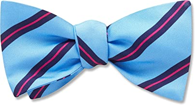 Erkina Blue Striped, Men's Bow Tie, Handmade in the USA