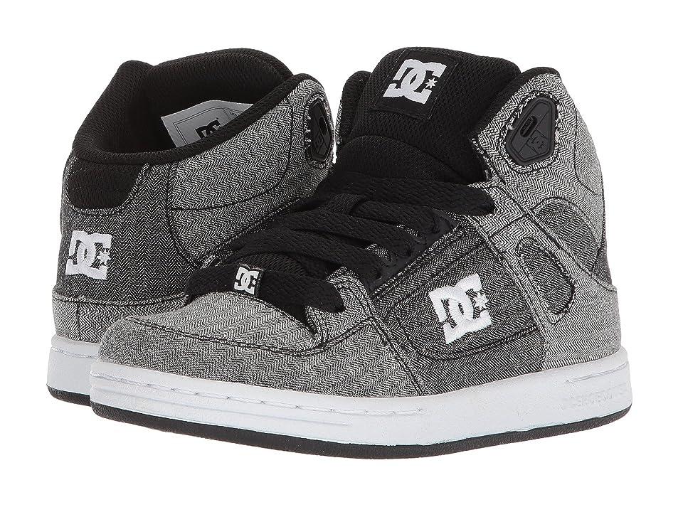 DC Kids Pure High-Top TX SE (Little Kid/Big Kid) (Grey/White/Grey) Boys Shoes