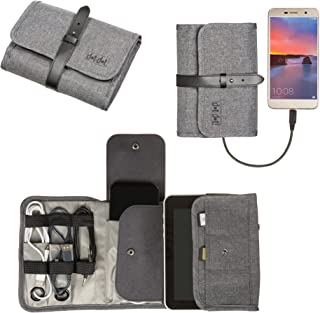 Universal Folding Electronics Organizer Bag, Optimum Quality Cable Kit, Gear Pouch and Roll-Up Gadgets Case, Perfect Size and Space for Your Travel Electronics Accessories