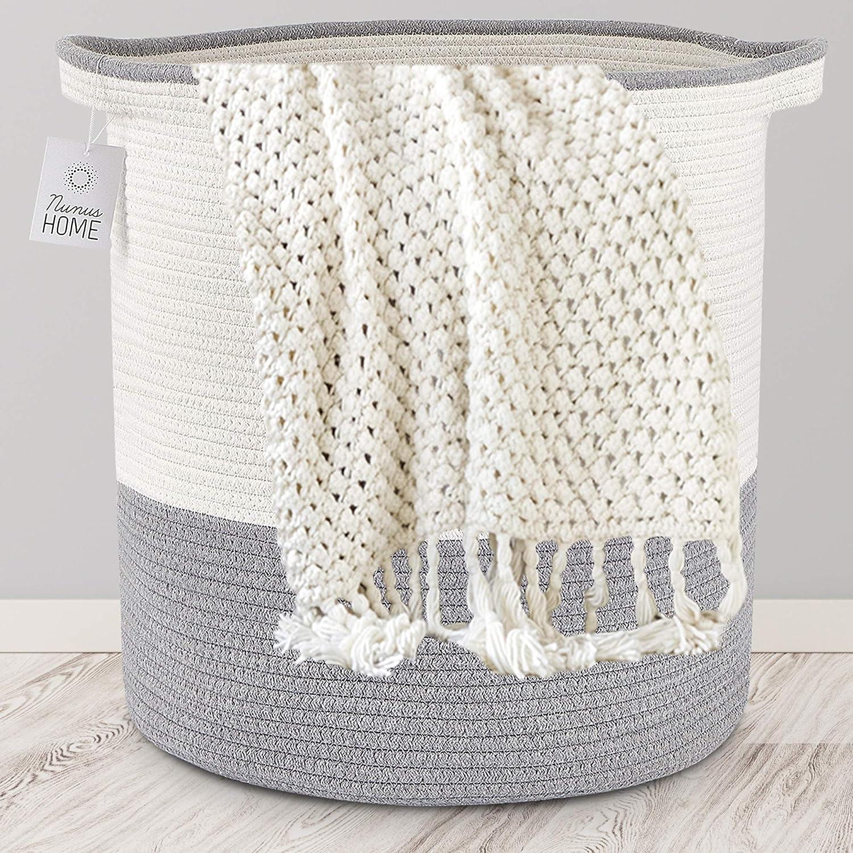 Nunus Home, XL Woven Cotton Rope Basket (16