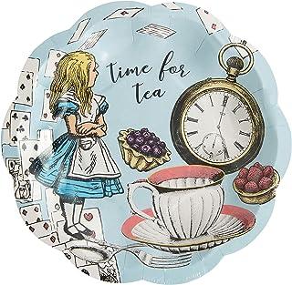 Talking Tables- Lot de 12 Petites Assiettes Alice au Pays des Merveilles  Vaisselle jetable, Recyclable à la Maison  Art...