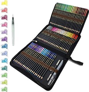 72 Crayons De Couleurs aquarellable dans une trousse à crayons personnalisée, Crayons Aquarelle Pour Dessin D'art adultes ...