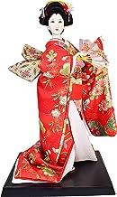 Japanese Vintage Geisha Doll Kimono Girl Figure Maiko Figurine - Red/Orange