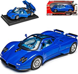 Motormax Pagani Zonda C12 Coupe Blau 1/18 Modell Auto