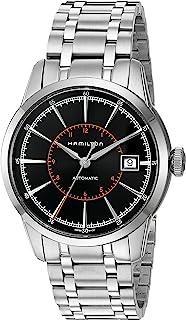 Hamilton - Reloj de pulsera de acero de 40 mm y caja antirreflectante con zafiro automático, esfera negra, H40555131