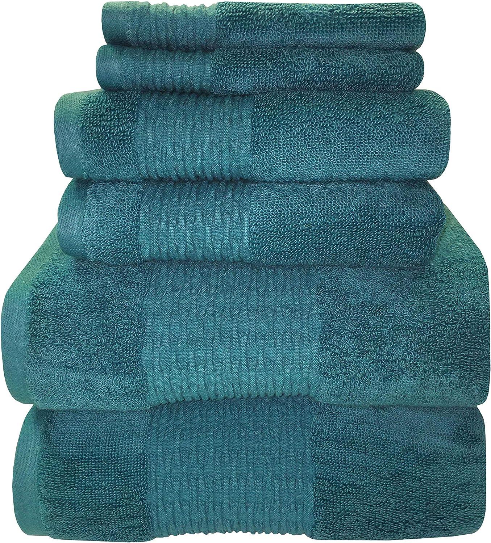 67% OFF of fixed price Charlotte Mall Sttelli Luna 6-Piece Bath Towel Premium Set Towels Portuguese -