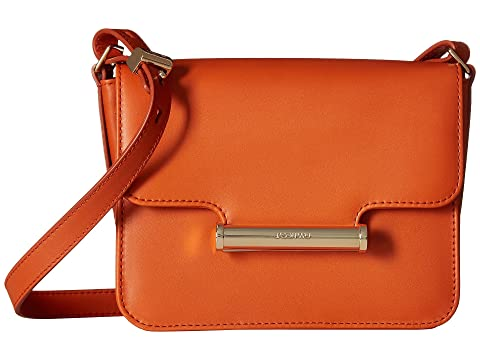 Diane Vitello Leather Mini Crossbody, Burnt Orange