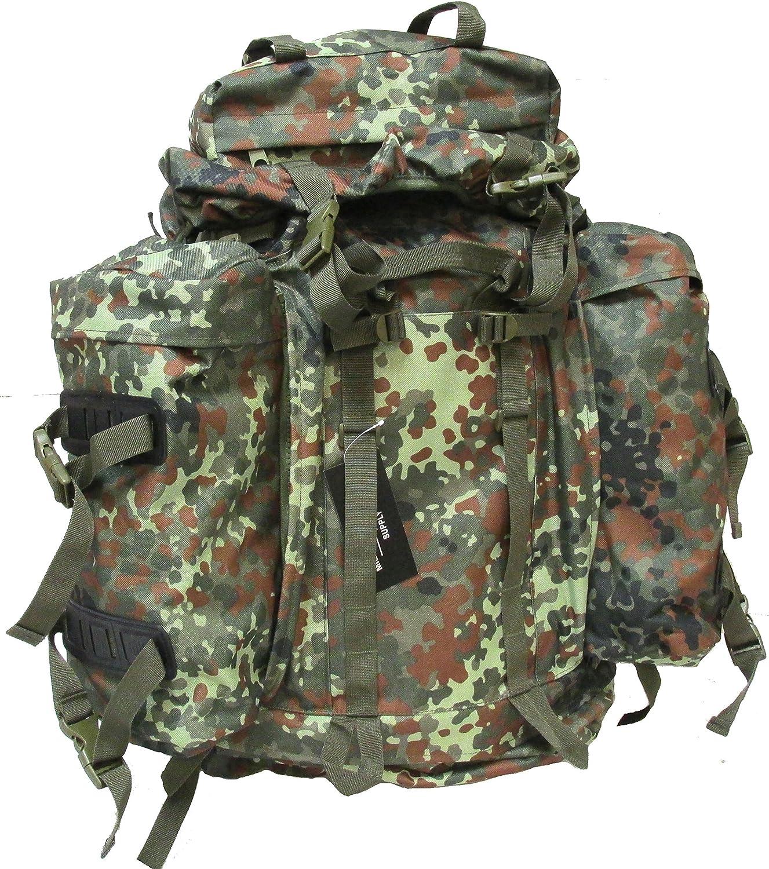 Military Uniform Supply Mountain Rucksack with Detachable Pouches - Flecktarn CAMO