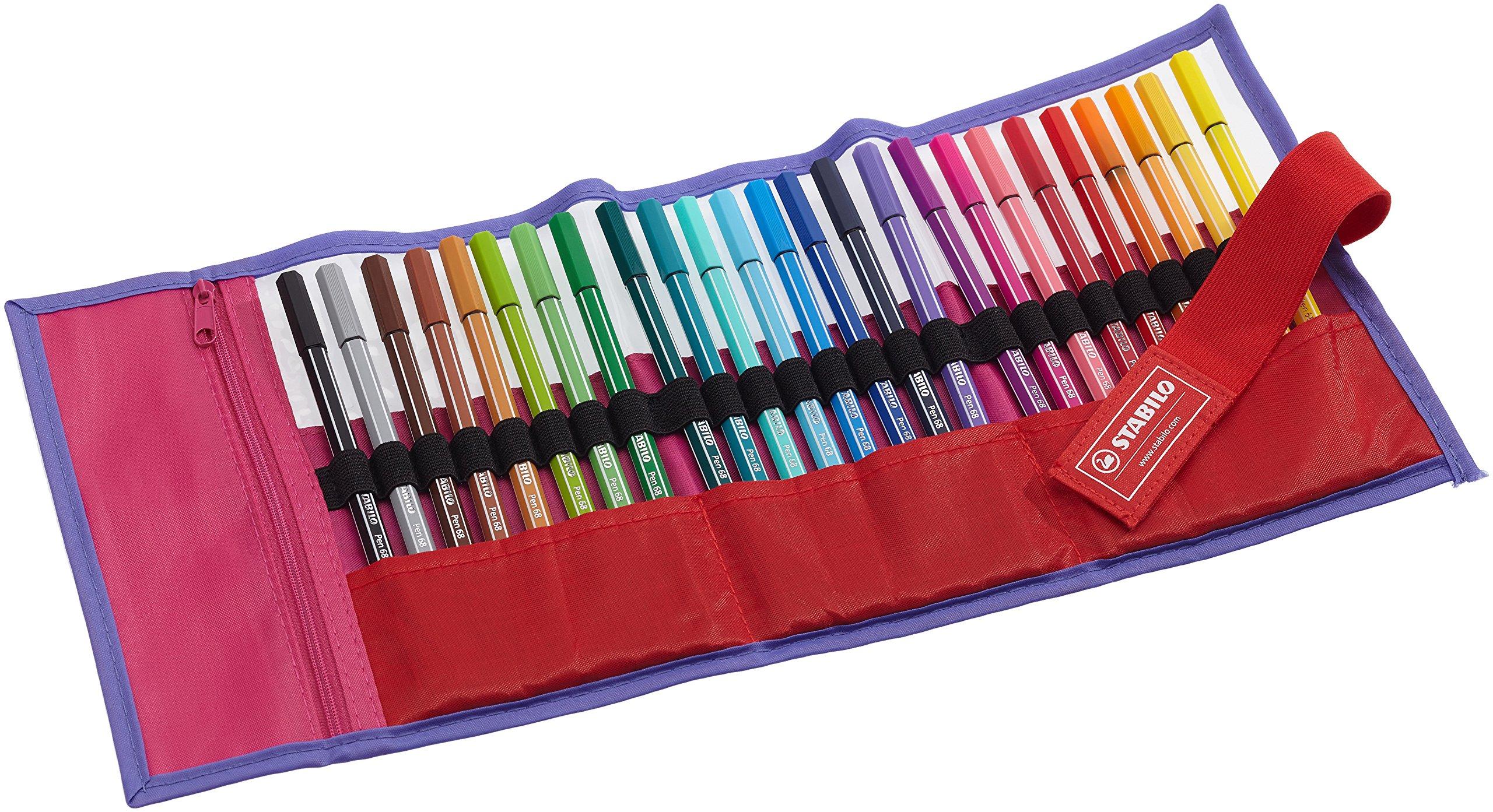 Stabilo Be Wild - Estuche de rotuladores Pen 68, color amarillo y verde: Amazon.es: Oficina y papelería