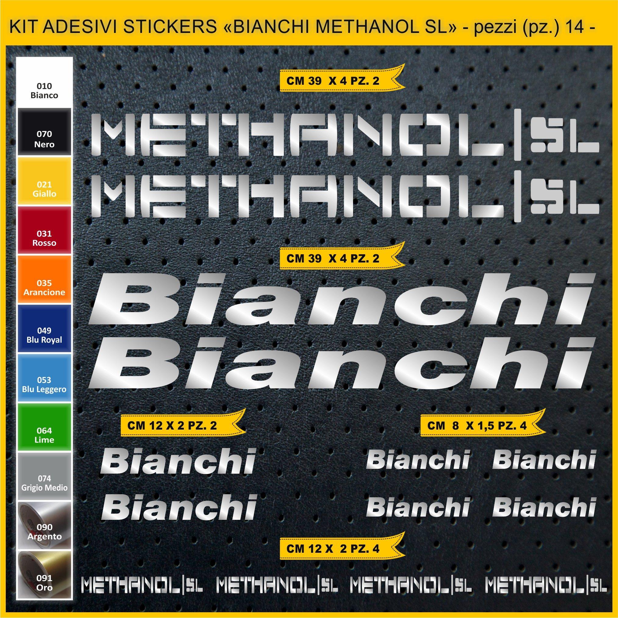 Kit Pegatinas Stickers Bicicleta Bianchi METHANOL SL -14 Piezas- Bike Cycle Cod. 0818 (090 Argento): Amazon.es: Deportes y aire libre