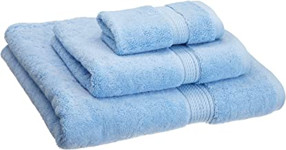 Superior 900 GSM Luxury Bathroom 3-Piece Towel Set, Made of 100% Premium Long-Staple Combed Cotton, Hotel & Spa Quality Washcloth, Hand Towel, and Bath Towel - Light Blue