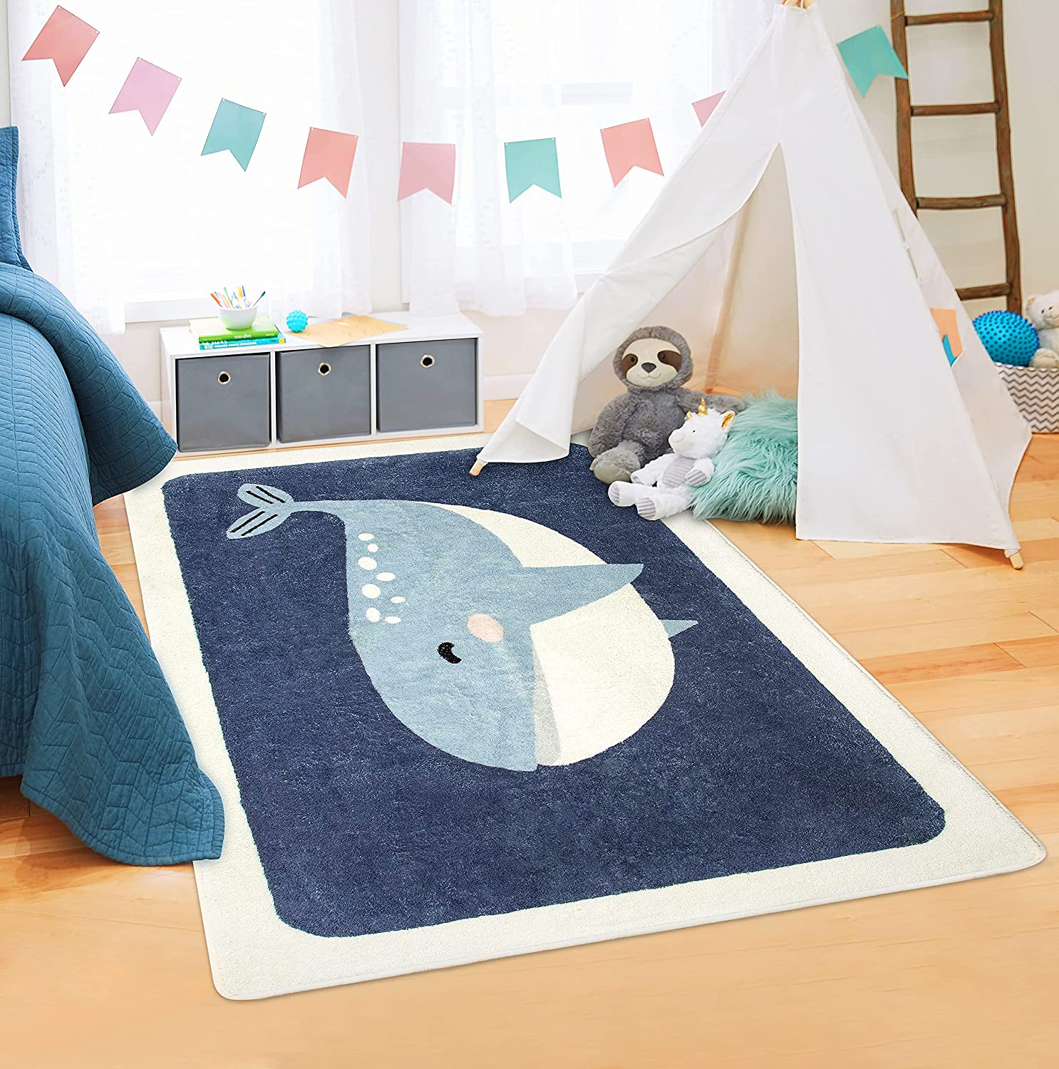 Kids Rug Ultra Daily bargain sale Soft Rugs for Kid M Play No-Slip Don't miss the campaign Baby 3'x5' Room