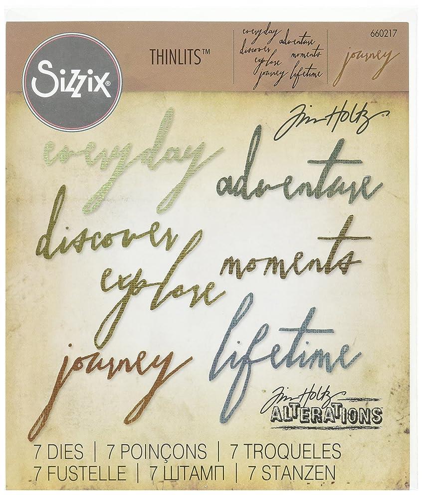 Sizzix 660217 Thinlits Die Set, Handwritten Journey by Tim Holtz (7 Pack)