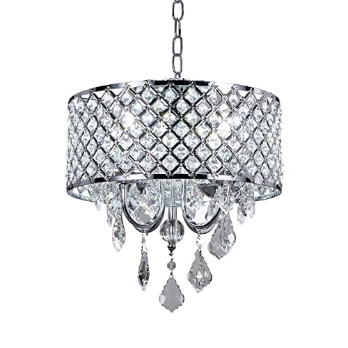 Small Crystal and Chrome Chandelier: Amazon.com