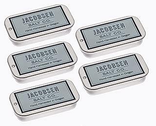 Jacobsen Salt - Hand Harvested Pure Flake Sea Salt Slide Tin (5 Pack)