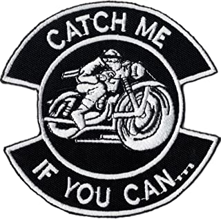 Catch Me If You Can Cafe Racer Motorcycle MC Biker Patch parche
