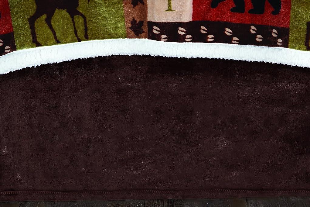 ロビー目を覚ます逆説CarstensブラウンPlushベッドスカート、クイーン、マルチカラー