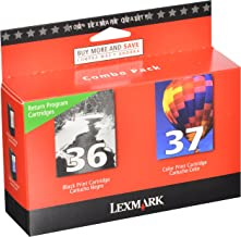 Best Lexmark 18C2229 36 & 37 X3650 X4650 X5650 X6650 X6675 Z2420 Ink Cartridge (Black & Color, 2-Pack) in Retail Packaging Reviews