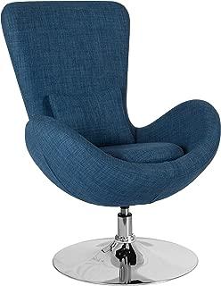 Flash Furniture Egg Series Blue Fabric Side Reception Chair