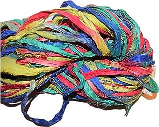 24 yd  Pacific Sunset THIN  Variegated Dot Sari Silk Ribbon-Recycled Sari Silk Ribbon 3 color pack 8 yards each 24 yards total