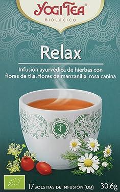Yogi Tea Infusión de Hierbas Relax - 17 bolsitas - [confezione da 3]