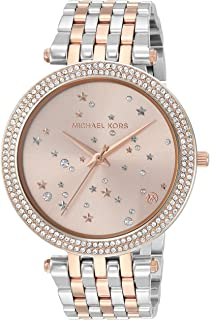 Michael Kors Women's 'Darci' Quartz Stainless Steel Casual Watch, Silver-Toned (Mk3726), Silver Band, Analog Display