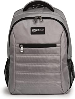 Mobile Edge Silver SmartPack 16 Inch Laptop Backpack with Separate Padded Tablet Pocket Lightweight Design for Men, Women, Students MEBPSP2